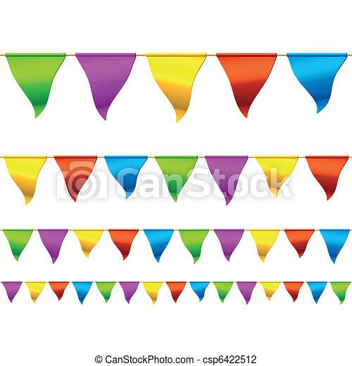 彩旗和彩带, 矢量, 旗, seamless, 描述