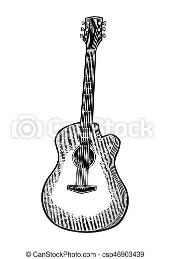彫版, 型, guitar., イラスト, ベクトル, 黒, 音響 - csp46903439