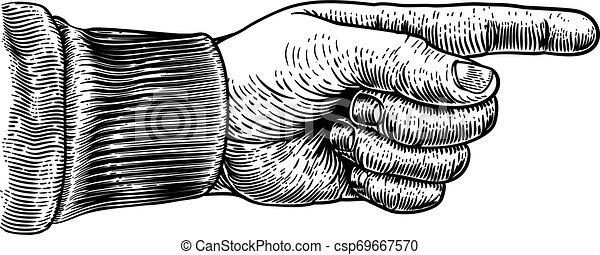 彫版, 方向, 指すこと, 木版, 手, 指 - csp69667570