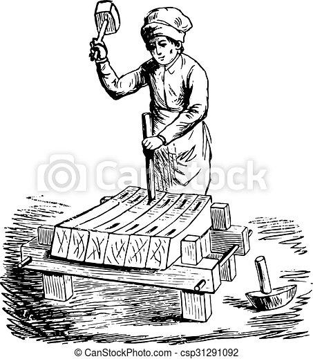 彫版, engraving., 比喩, 百科事典, fac, 型 - csp31291092