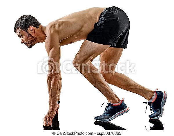 影, ランナー, 動くこと, 隔離された, ジョガー, ジョッギング, 人 - csp50870365