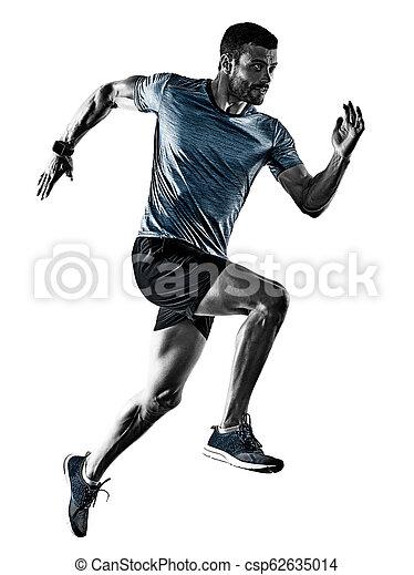 影, ランナー, 動くこと, 隔離された, ジョガー, ジョッギング, 人 - csp62635014