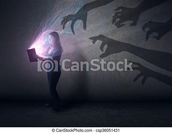 影, 聖書 - csp36051431