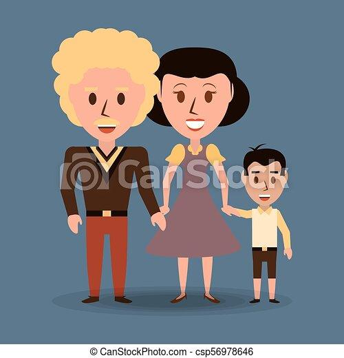 ∥(彼・それ)ら∥, 親, レトロ, 家族, 息子 - csp56978646