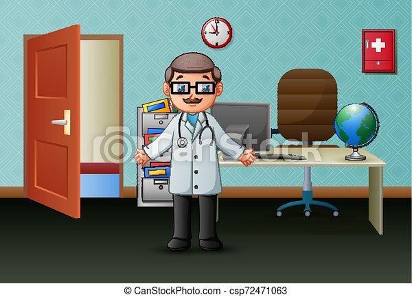 彼の, オフィス, 医者 - csp72471063
