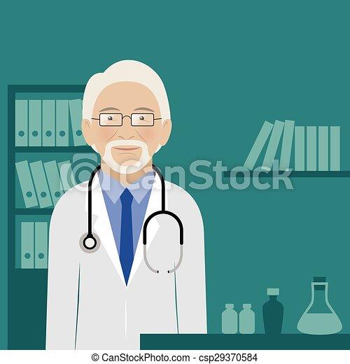 彼の, オフィス, 医者 - csp29370584