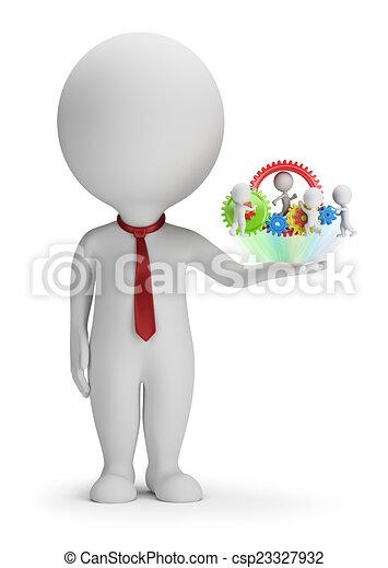 彼の, 人々, -, マネージャー, チーム, 小さい, 3d - csp23327932