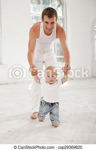 彼の, 古い, 月, 父, 若い, 息子, 9, 家 - csp29369820