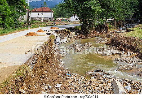 後で, 自然災害 - csp7334914