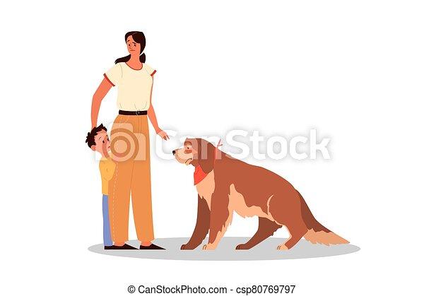 後ろ足で立つ, 愛, 子供, 親であること, 彼女, concept., 息子, animals., 女, 教えなさい - csp80769797