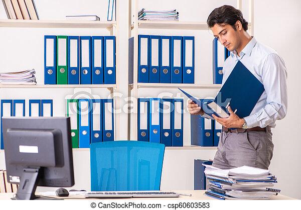 従業員, マレ, 労働者のオフィス, 若い - csp60603583