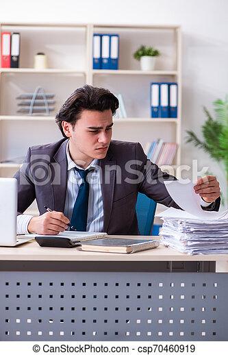 従業員, マレ, 労働者のオフィス, 若い - csp70460919