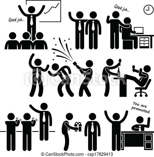 従業員, 報われる, 幸せ, 上司 - csp17829413