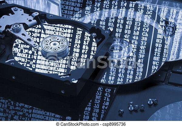 復活させなさい, 概念, 貯蔵, ハードディスク, データ, バックアップ - csp8995736