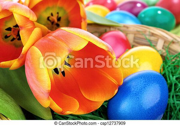 復活節, 鮮艷, 安排 - csp12737909