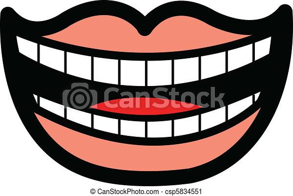 一排牙齿矢量图