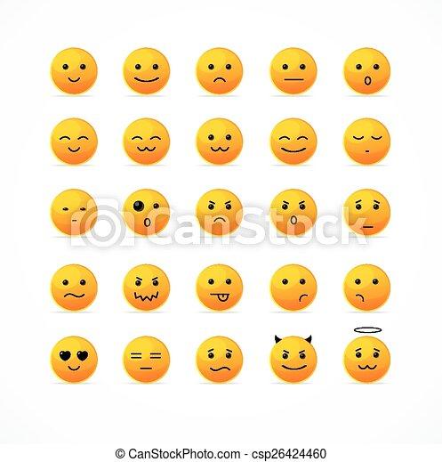 微笑, アイコン, set., ベクトル - csp26424460