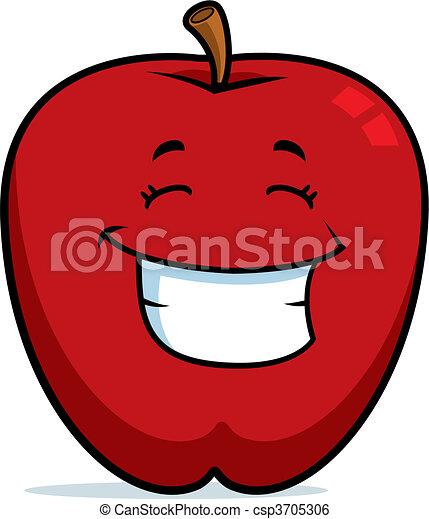 微笑, アップル - csp3705306
