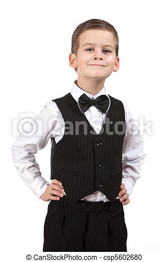 微笑, スーツ, 男の子 - csp5602680