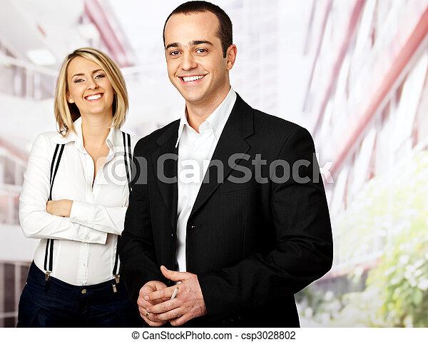 微笑, ビジネス 人々 - csp3028802