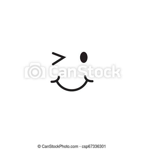 微笑, ベクトル, デザイン, テンプレート, イラスト - csp67336301