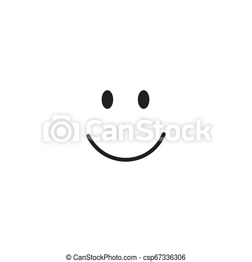微笑, ベクトル, デザイン, テンプレート, イラスト - csp67336306