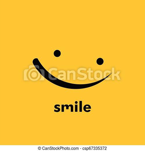 微笑, ベクトル, デザイン, テンプレート, イラスト - csp67335372