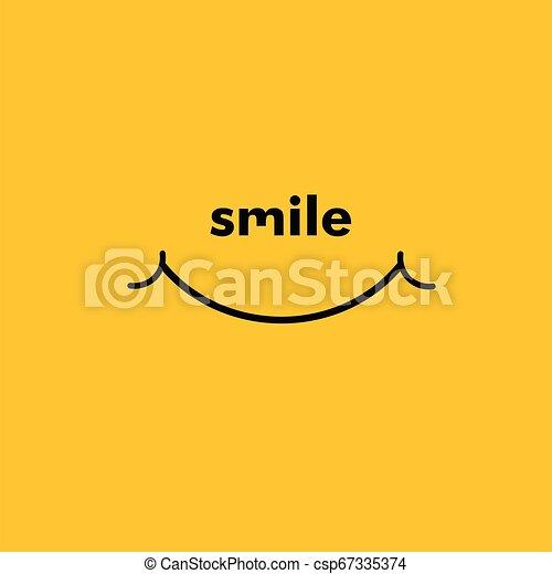 微笑, ベクトル, デザイン, テンプレート, イラスト - csp67335374