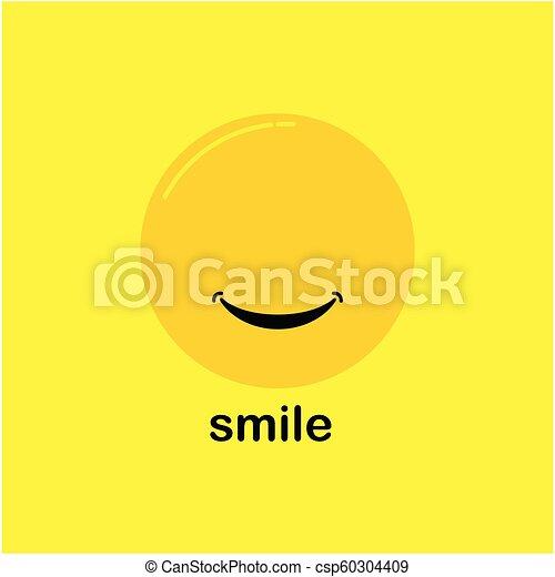 微笑, ベクトル, デザイン, テンプレート - csp60304409