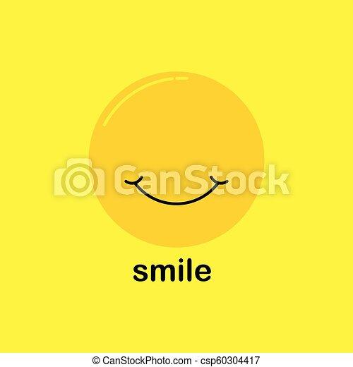 微笑, ベクトル, デザイン, テンプレート - csp60304417