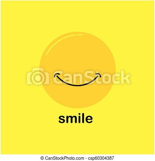 微笑, ベクトル, デザイン, テンプレート - csp60304387