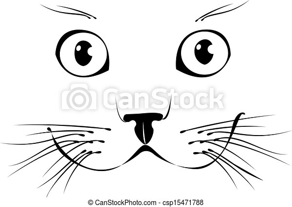 微笑, ベクトル, cat., イラスト - csp15471788
