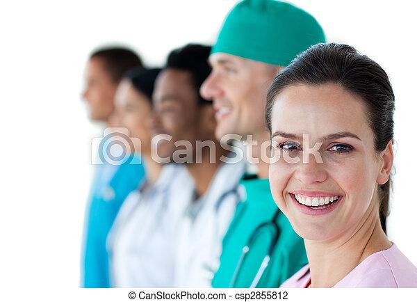 微笑, 同事, 女性, 她, 醫生 - csp2855812