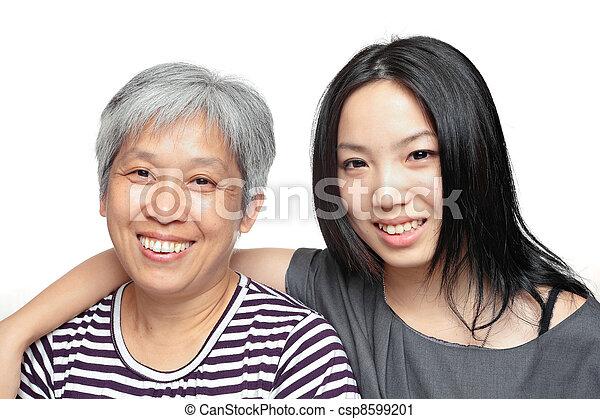 微笑, 娘, 母 - csp8599201
