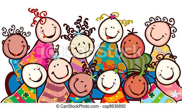 微笑, 子供 - csp8636892
