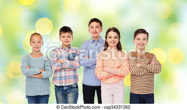 微笑, 子供, 幸せ - csp34331362