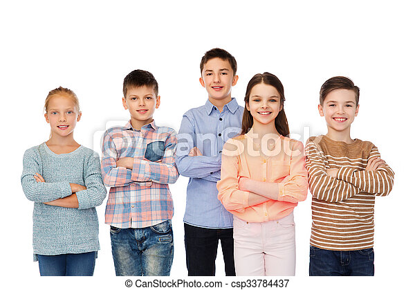 微笑, 子供, 幸せ - csp33784437