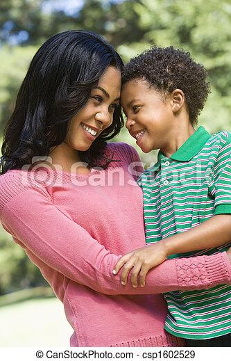 微笑。, 母, 息子 - csp1602529