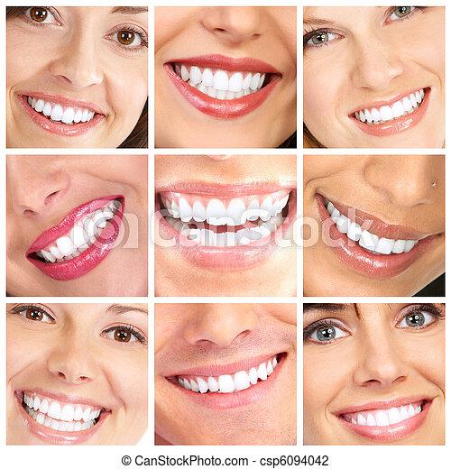 微笑, 牙齒 - csp6094042