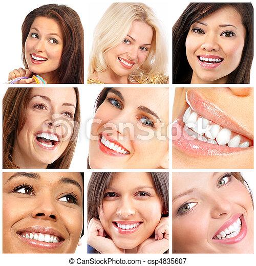微笑, 臉, 牙齒 - csp4835607