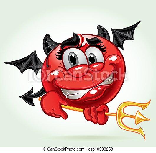 微笑, 衣装, 朗らかである, 悪魔 - csp10593258