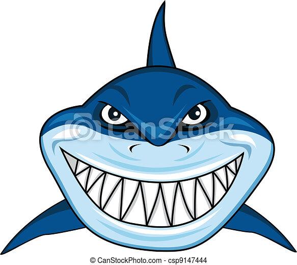 鲨鱼黑白矢量图