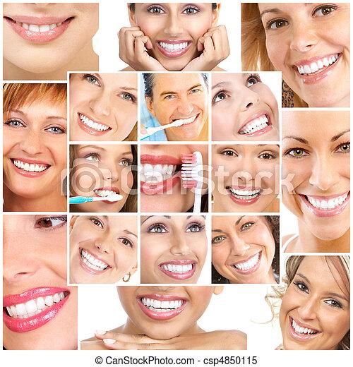 微笑, ans, 牙齒 - csp4850115