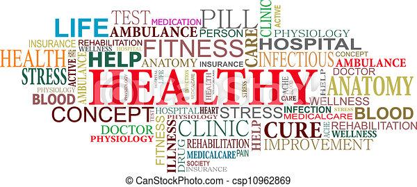 心配, 健康, 雲, タグ - csp10962869