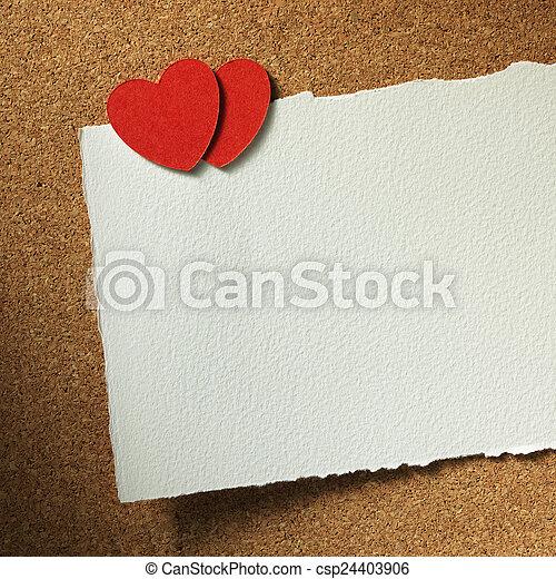 心, カード, ホリデー - csp24403906