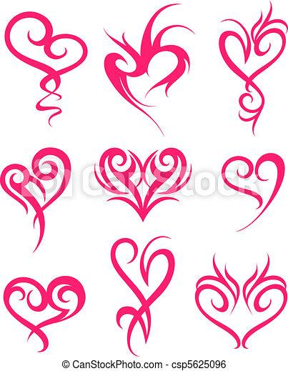 心, シンボル, デザイン - csp5625096