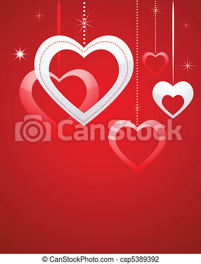 心, バレンタイン, カード - csp5389392