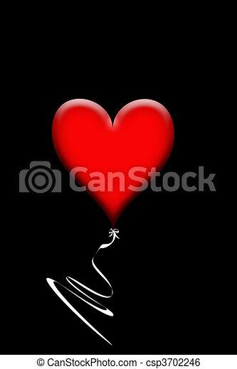 心, バレンタイン - csp3702246