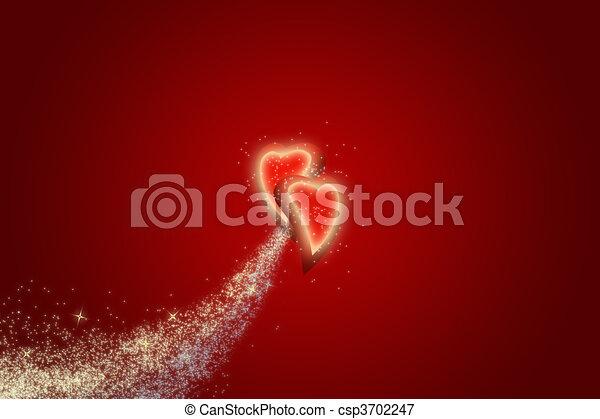 心, バレンタイン - csp3702247