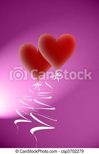 心, バレンタイン - csp3702279